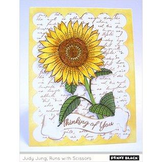 Penny Black Rubberzegel, zonnebloem