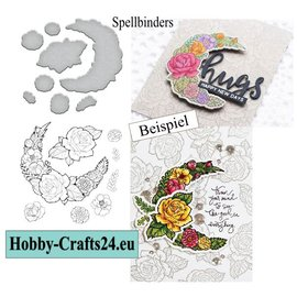 Spellbinders und Rayher stamp + cutting template, Rose avenue