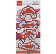 Marianne Design Marianne Design, Stanzschablonen, 4 vintage Label -LETZTE