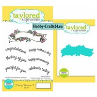 Punching templates + stamp: Banner with text English