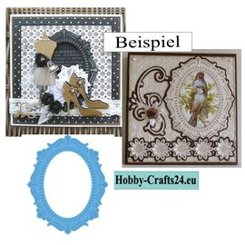 Marianne Design cutting and Embossing template: Oval Frame, 11 x 16 cm
