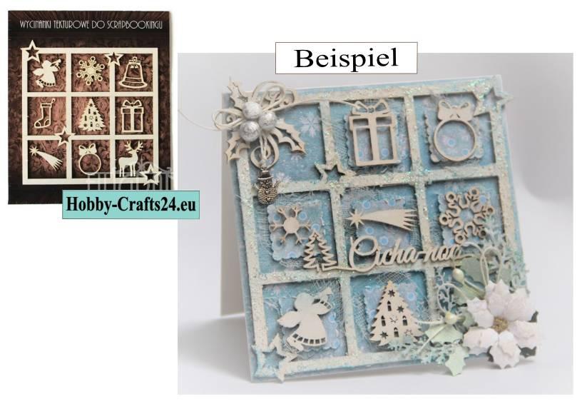 Prägeschablone Weihnachtlicher Rahmen  14x14 Prägefolder Embossing template