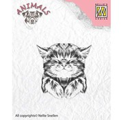 Nellie Snellen Nellie Snellen, Transparent Stamp: Cat, 39x40mm