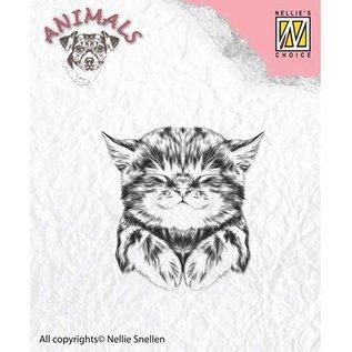 Nellie Snellen Nellie Snellen, transparante stempel: kat, 39x40mm