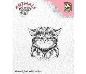 Nellie Snellen Nellie Snellen, timbre transparent: chat, 39x40mm