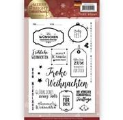 Precious Marieke Gennemsigtigt frimærke: Jul, tyske tekster og etiketter