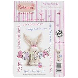 Crafters Company: BeBunni Sello de goma, tema de BeBunni: cumpleaños