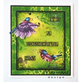 Marianne Design Rubberstempel: vogel, de vogels van Tiny