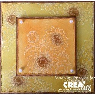 Crealies und CraftEmotions Rubberzegel: zonnebloemen