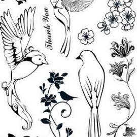 ALADINE Kanban, Transparent Stamp: Birds of Paradise