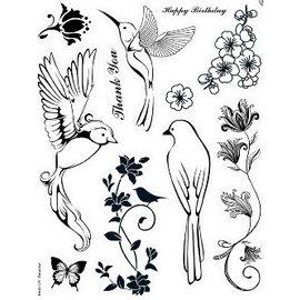 ALADINE Kanban, Sello transparente: Aves del paraíso