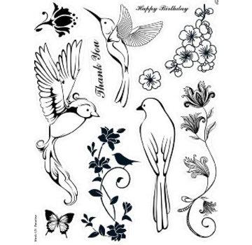 ALADINE Kanban, Transparent Stempel: Birds of Paradise - Limited Edition!