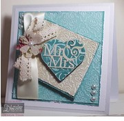 Die'sire Punching template, heart Mr & Mrs
