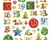 STARS, chiffres, flocons de neige et designs hivernaux
