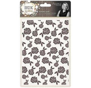 Die'sire Embossing Folder, Elegant Rose, approx. 13 x 18 cm