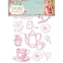 Crafter's Companion Diseños de sellos: Vintage Tea Party, Tea for Two