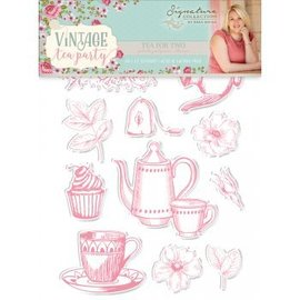Crafter's Companion Stempel ontwerpen: Vintage Tea Party, Tea for Two