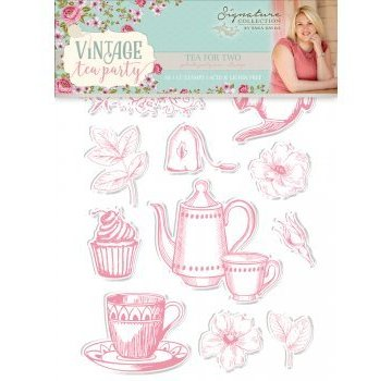 Crafter's Companion Stempel Motive: Vintage Tea Party,  Tea for Two