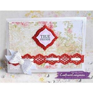 Die'sire Modèle de poinçon, bordure élégante pour les rubans décoratifs