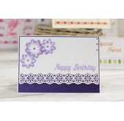 Die'sire Punching template, elegant border for decorative ribbons
