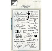 Joy!Crafts / Jeanine´s Art, Hobby Solutions Dies /  Transparent Stempel  mit deutsche Texte