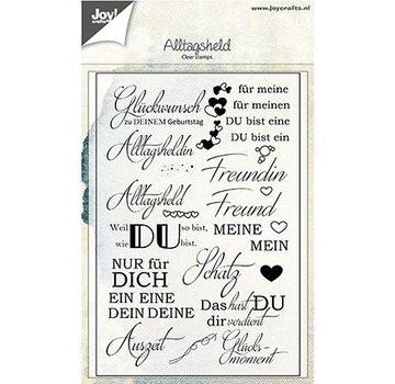 Joy!Crafts / Jeanine´s Art, Hobby Solutions Dies /  Timbro trasparente con testi tedeschi