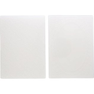 Die'sire 2 embossing folders, decorative frames and diamonds motifs, VERY BEAUTIFUL!