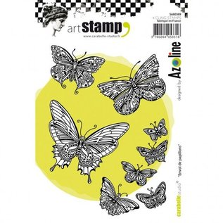 STEMPEL / STAMP: GUMMI / RUBBER Rubberstempel: vlinders