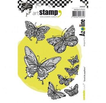 STEMPEL / STAMP: GUMMI / RUBBER Timbro di gomma: farfalle