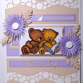Joy!Crafts / Jeanine´s Art, Hobby Solutions Dies /  Timbre transparent: ours en peluche