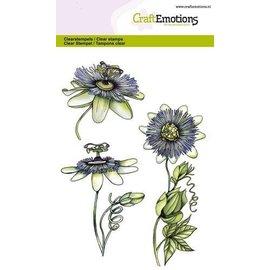 Crealies und CraftEmotions Transparent stamp, A6, passionflower
