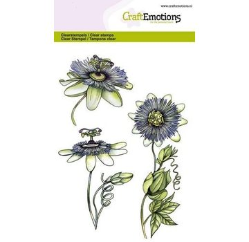 Crealies und CraftEmotions Transparent frimærke, A6, passionflower