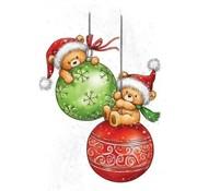 Wild Rose Studio`s Transparent frimærke, A7, Teddy Christmas