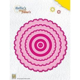 Nellie Snellen Stanzschablone, Multi runde spitze Rahmen