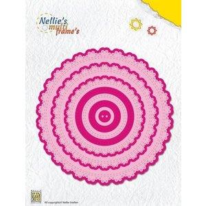 Nellie Snellen Modèle de poinçon, cadre de dentelle multi rond