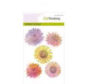 Crealies und CraftEmotions Transparent Stempel,  A6,  Chrysanthemen Blume