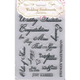 Docrafts / Papermania / Urban Timbre transparent, A5, Sentiments de mariage