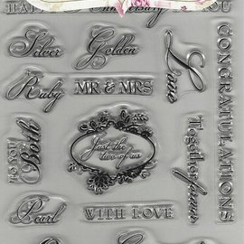 Docrafts / Papermania / Urban Transparent Stempel,  A5,  Text englisch