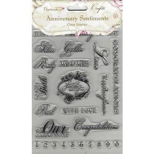 Docrafts / Papermania / Urban Transparent frimærke, A5, tekst engelsk