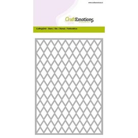Crealies und CraftEmotions Gabarit de perforation, Grille environ 10,5x14,8cm