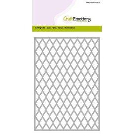 Crealies und CraftEmotions Stanzschablone, Grid ca. 10,5x14,8cm