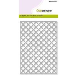 Crealies und CraftEmotions Stansemaleri, gitter ca. 10,5x14,8 cm