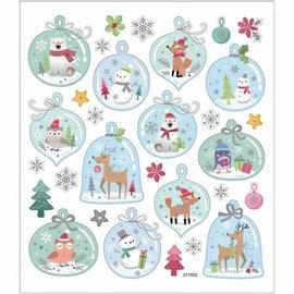STICKER / AUTOCOLLANT Foglio adesivo 15 x 16,5 cm, 30 motivi, Natale