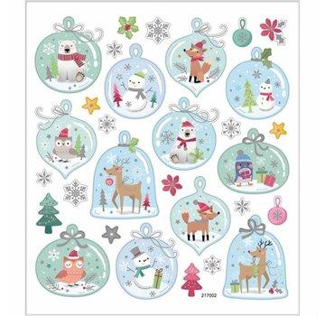 Sticker Foglio adesivo 15 x 16,5 cm, 30 motivi, Natale
