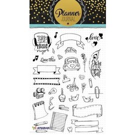 Studio Light Transparante stempel: A5 Planner Journal nr 08