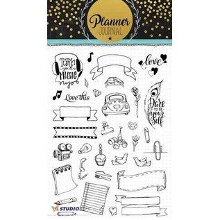 Studio Light Transparante stempel: A5 Planner Journal nr 08