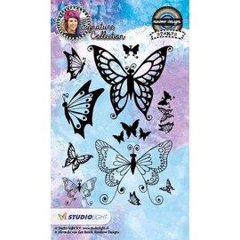 Studio Light Timbre transparent: papillons