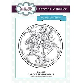 CREATIVE EXPRESSIONS und COUTURE CREATIONS Motif stamp, Christmas, bells