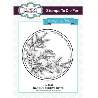 CREATIVE EXPRESSIONS und COUTURE CREATIONS Motiefstempel, Kerstmis, geschenken