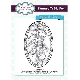 CREATIVE EXPRESSIONS und COUTURE CREATIONS Motif stamp, Christmas, stocking